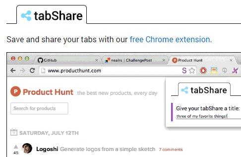 開いている全てのタブを簡単に保存、共有できるGoogle Chrome 拡張機能「tabShare」